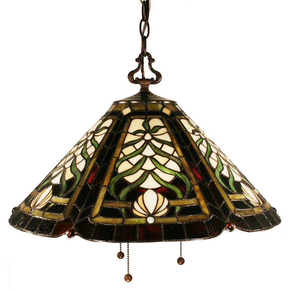 Tulen Lawrence 3-Light Chestnut Bronze Incandescent Ceiling Pendant-DISCONTINUED