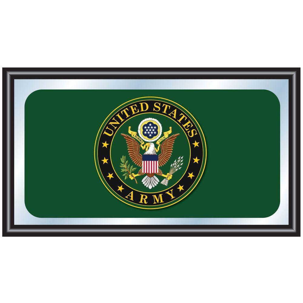 Trademark Us Army Symbol 15 In X 26 In Black Wood Framed Mirror