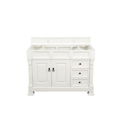 Brookfield 48 in. W Bathroom Single Vanity Cabinet Only in Cottage White
