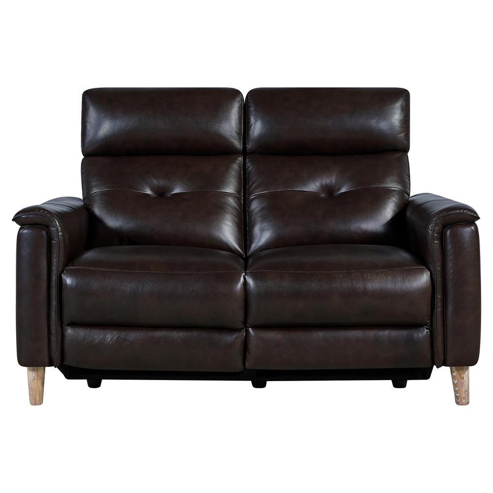 Prime Furniture Of America Oxford Rustic Dark Brown Faux Leather Customarchery Wood Chair Design Ideas Customarcherynet