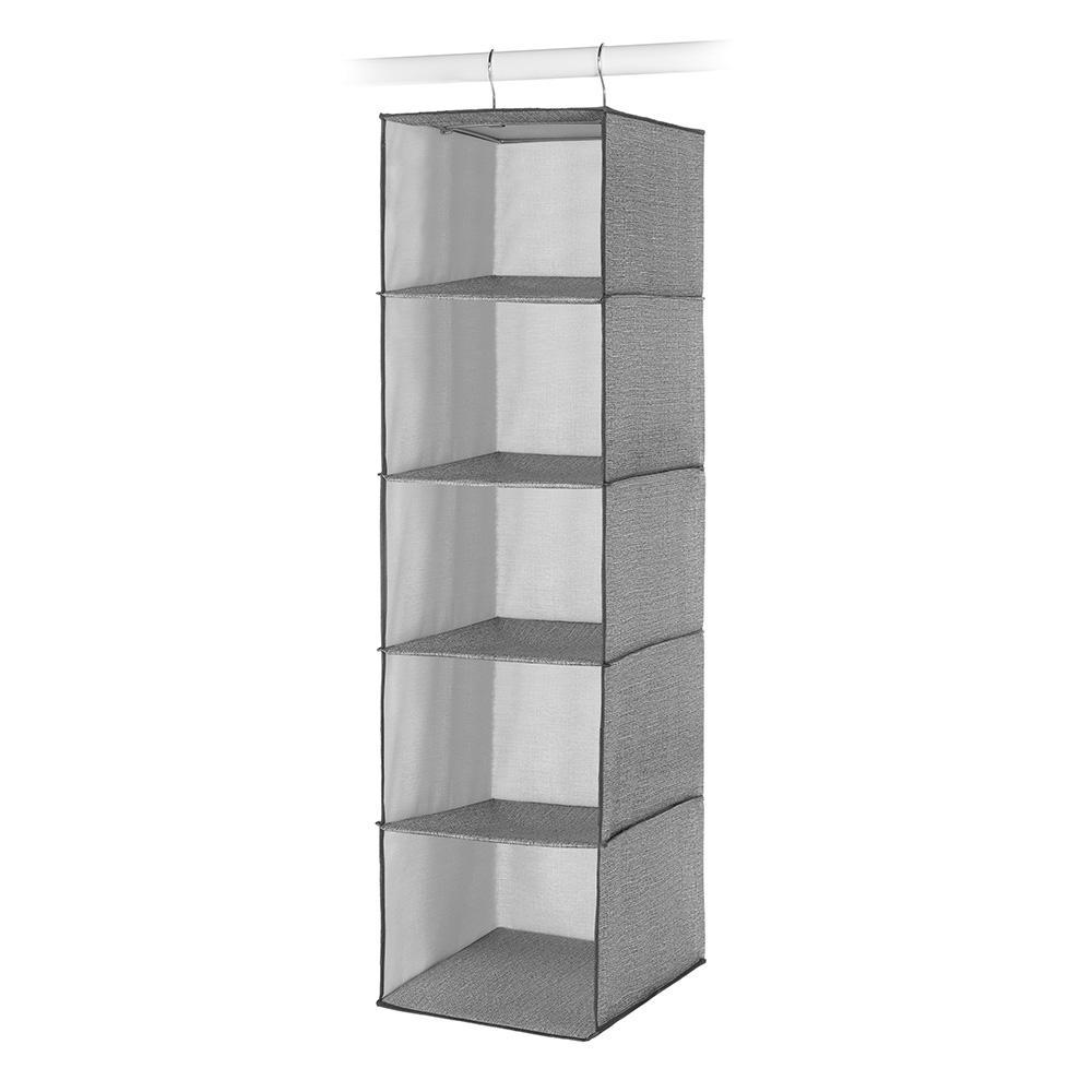 Whitmor 5 Section Closet Organizer Hanging Shelves w// Sturdy Metal Frame 3 Pack