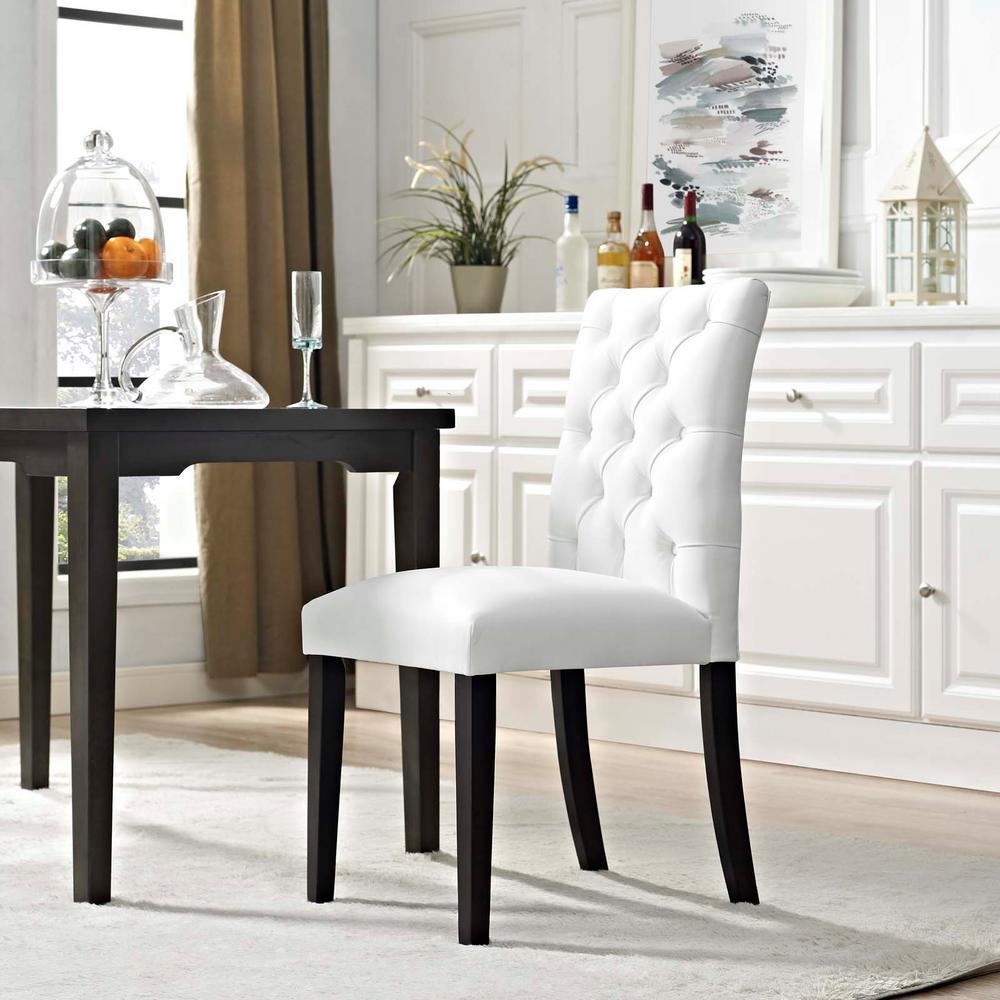 Awe Inspiring Modway Duchess White Vinyl Dining Chair Eei 2230 Whi The Lamtechconsult Wood Chair Design Ideas Lamtechconsultcom