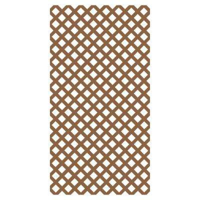 0.2 in. x 48 in. x 8 ft. California Redwood Diamond Vinyl Lattice