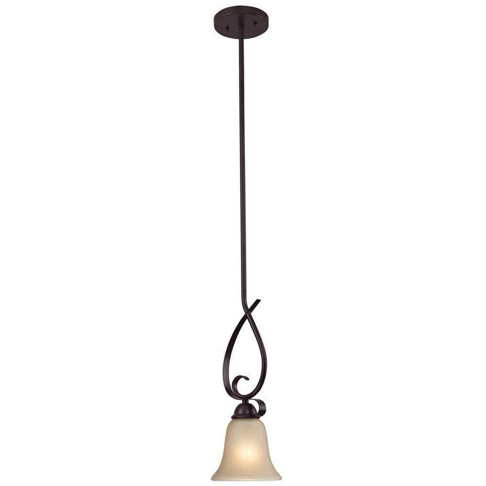 Titan Lighting Brighton 1-Light Oil-Rubbed Bronze Mini Ceiling Pendant