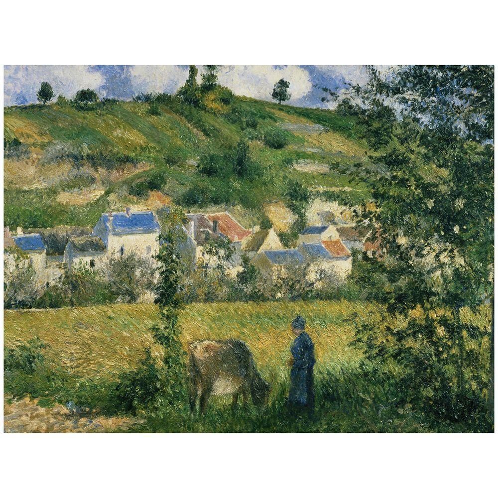 Trademark Fine Art 26 in. x 32 in. Landscape at Chaponval 1880 Canvas Art