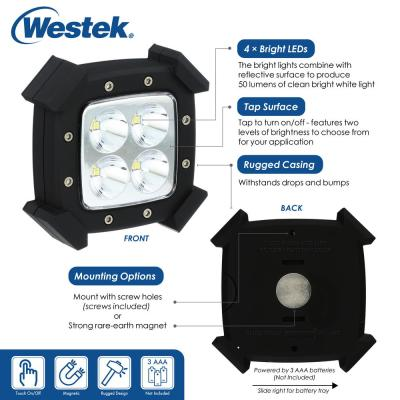 LED Rugged Under Cabinet Puck Lighting (2-Pack)