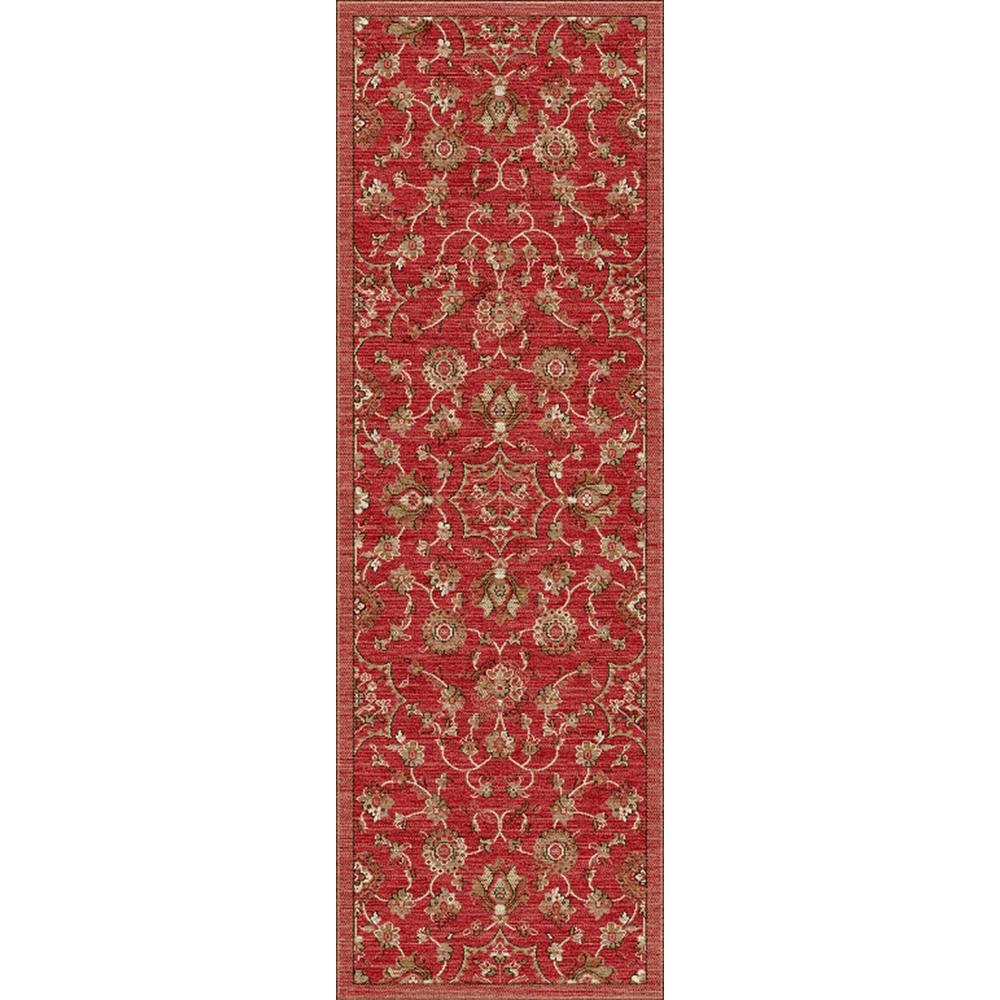 Home Decorators Collection Dahlia Red 2 ft. 6 in. x 8 ft. Indoor Runner-MT6152 2'6x8 - The Home ...