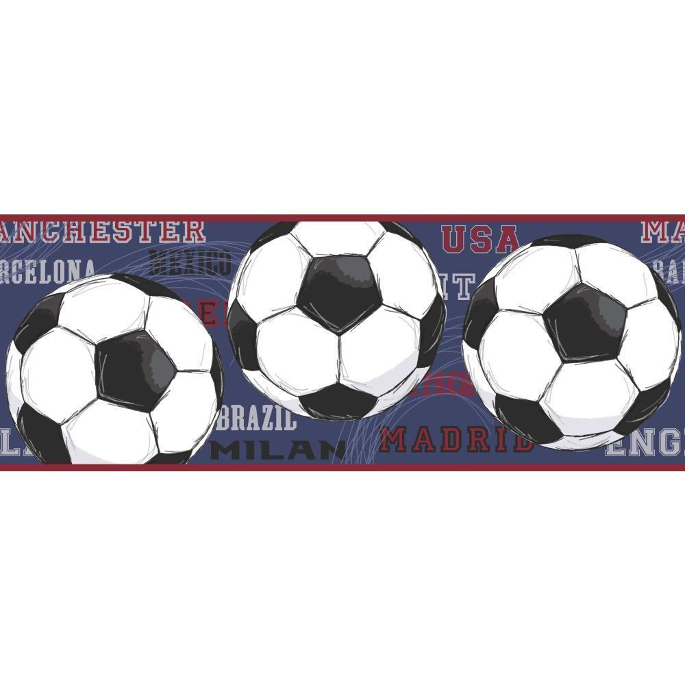 York Wallcoverings Cool Kids Soccer Wallpaper Border-JE3540BD ...