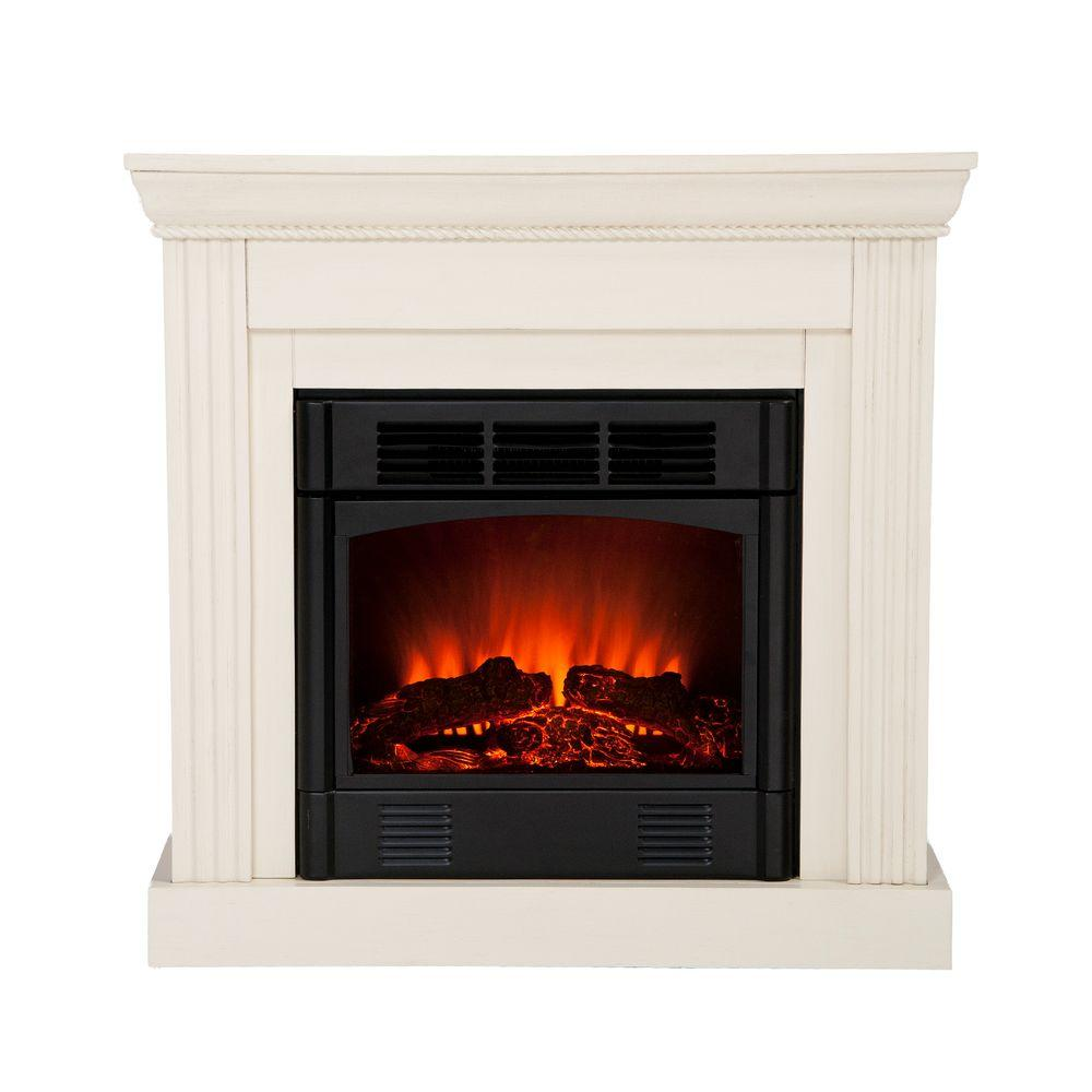 Southern Enterprises Wexford Petite 30 in. Convertible Electric Fireplace in Ivory-DISCONTINUED