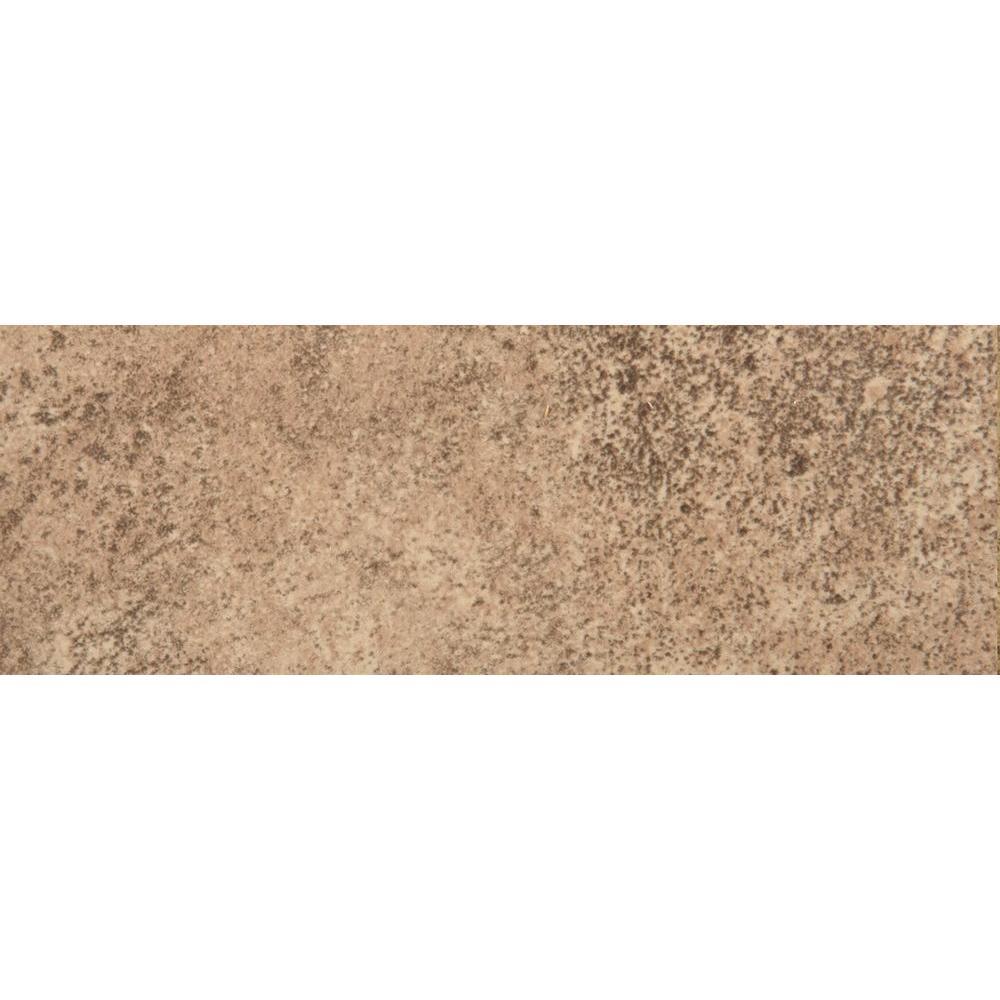 Toledo Noce 3 in. x 13 in. Single Bullnose Ceramic Floor and Wall Tile