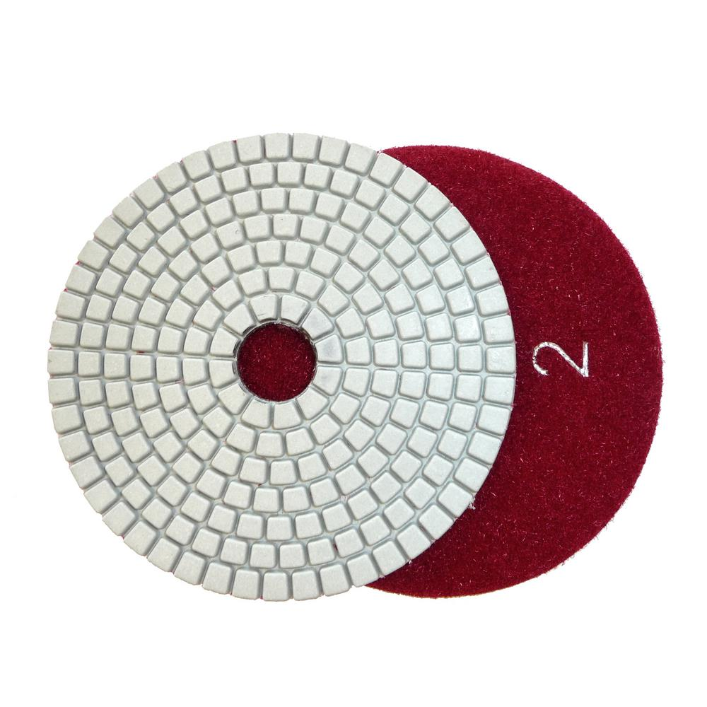 4 in. JHX 3-Step Dry/Wet Diamond Polishing Pads Step 2