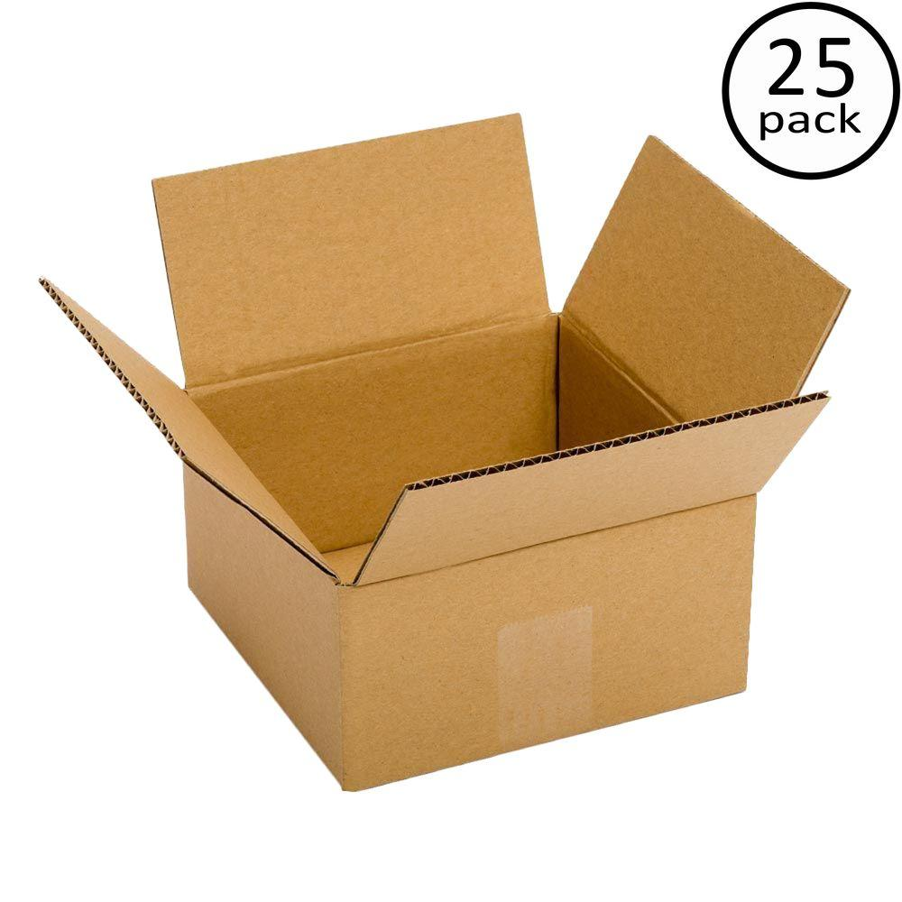 Plain Brown Box 8 in. x 6 in. x 6 in. 25-Box Bundle