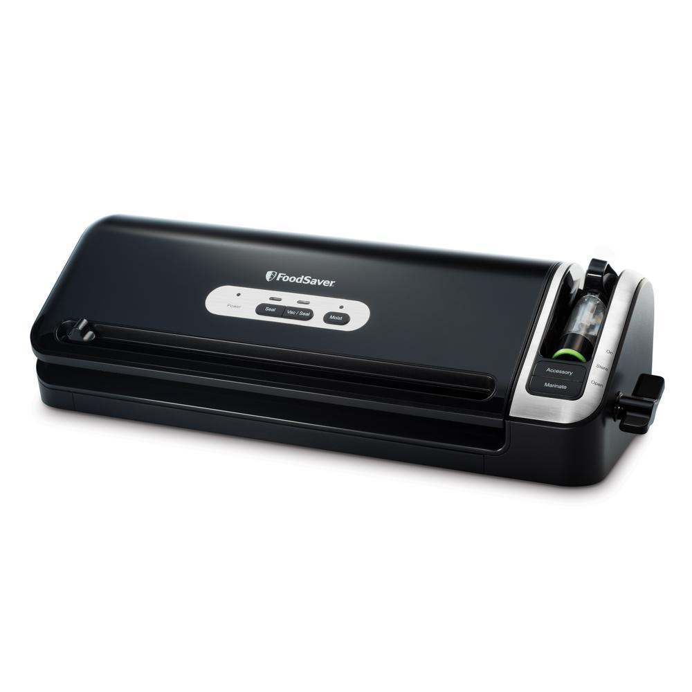 2-in-1 Black Manual Food Vacuum Sealer
