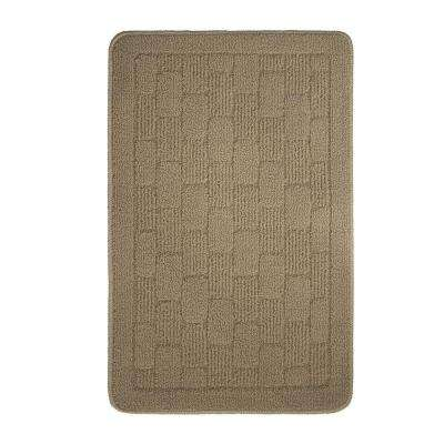 Old Country Textured Loop Linen 18 in. x 28 in. Oblong Kitchen Rug