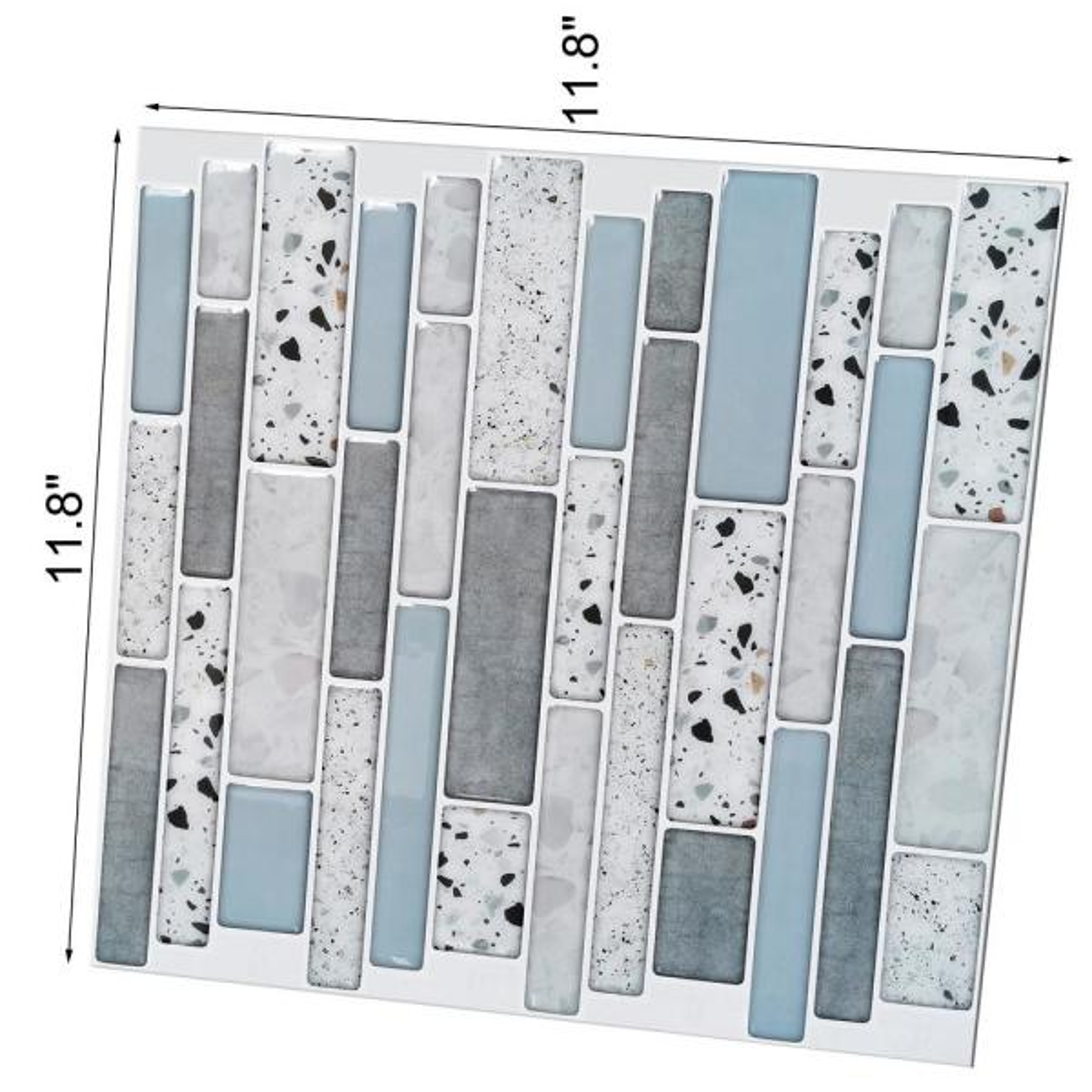 Peel and Stick Self Adhesive Backsplash,Stick On Tile Backsplash for Kitchen /& Bathroom 11.8x 11.8,10 Sheets