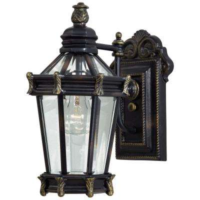 Stratford Hall 1-Light Heritage with Gold Highlights Outdoor Wall Mount  sc 1 st  Home Depot & Outdoor Lanterns - Other - the great outdoors by Minka Lavery ...