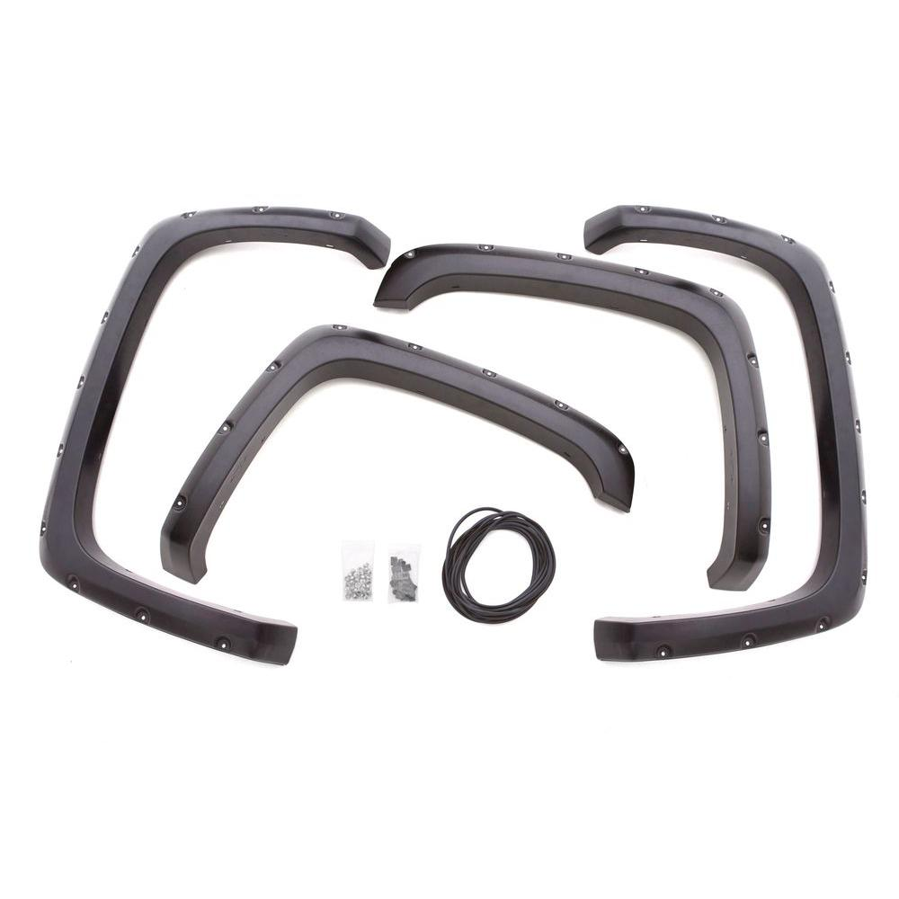 2007 GMC Sierra Lund Elite Series RX-Rivet Style Fender Flares RX103T Front and Rear Set