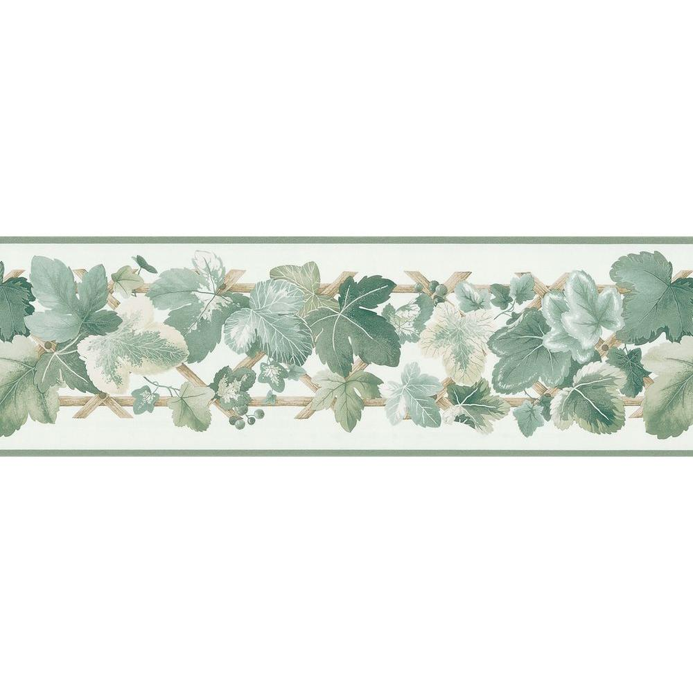 Brewster 7 in. Leaf Scroll Border