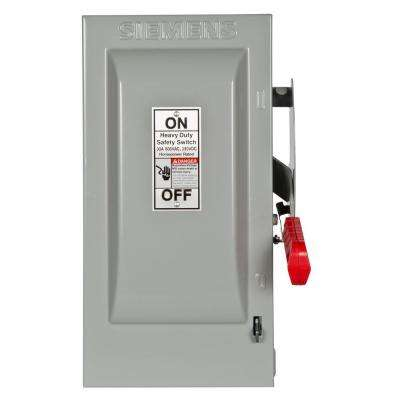 Heavy Duty 30 Amp 600-Volt 3-Pole Indoor Fusible Safety Switch