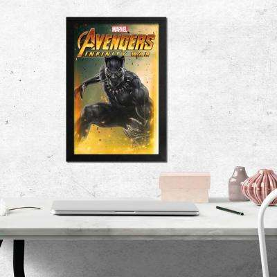 "11 in. x 17 in. ""Avengers -Infinity War- Black Panther"" Framed Print"