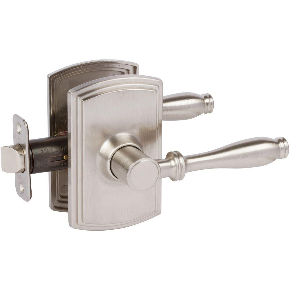 Italian Collection Sorado Satin Nickel Hall and Closet Lever