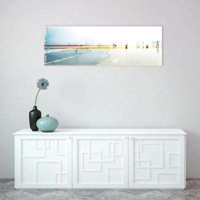 "60 in. x 20 in. ""Sand On your Toes"" By Wynwood Studio Framed Printed Wood Wall Art"