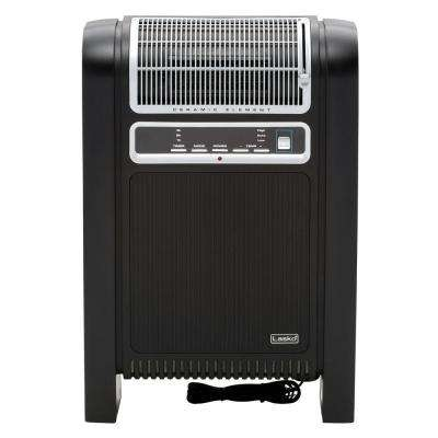 1,500 Watt Electric Portable Cyclonic Ceramic Heater with Remote Control