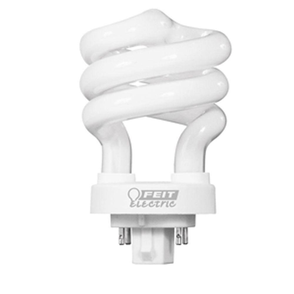60watt equivalent soft white 2700k spiral 4pin cfl light bulb - Compact Fluorescent Light Bulbs