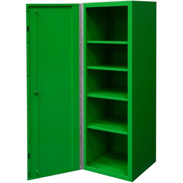DX 19 in. 4-Shelf Side Locker Tool Chest in Green with Black Handle