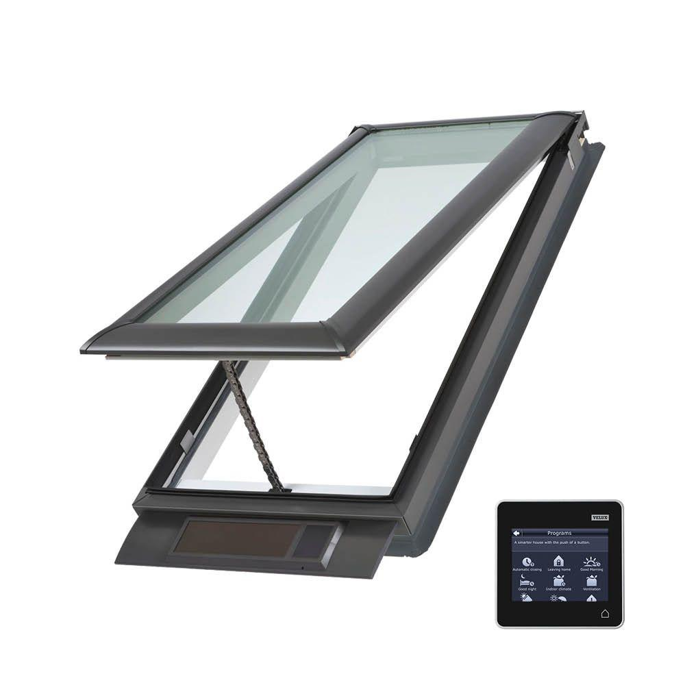 Velux 21 x 37 7 8 in solar powered fresh air venting deck for Velux glass