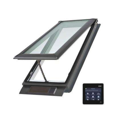 21 x 54-7/16 in. Solar Powered Fresh Air Venting Deck-Mount Skylight with Laminated Low-E3 Glass