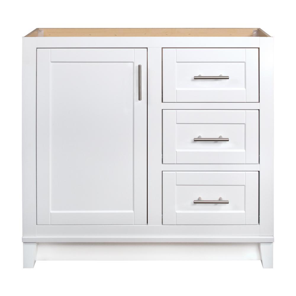 Glacier Bay Kinghurst 36 in. W x 21 in. D x 33.5 in. H Bathroom Vanity Cabinet Only in White