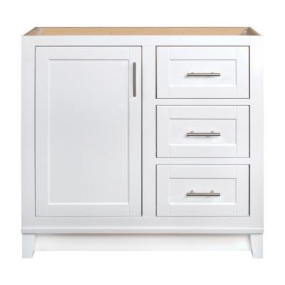 Kinghurst 36 in. W x 21 in. D x 33.5 in. H Bathroom Vanity Cabinet Only in White
