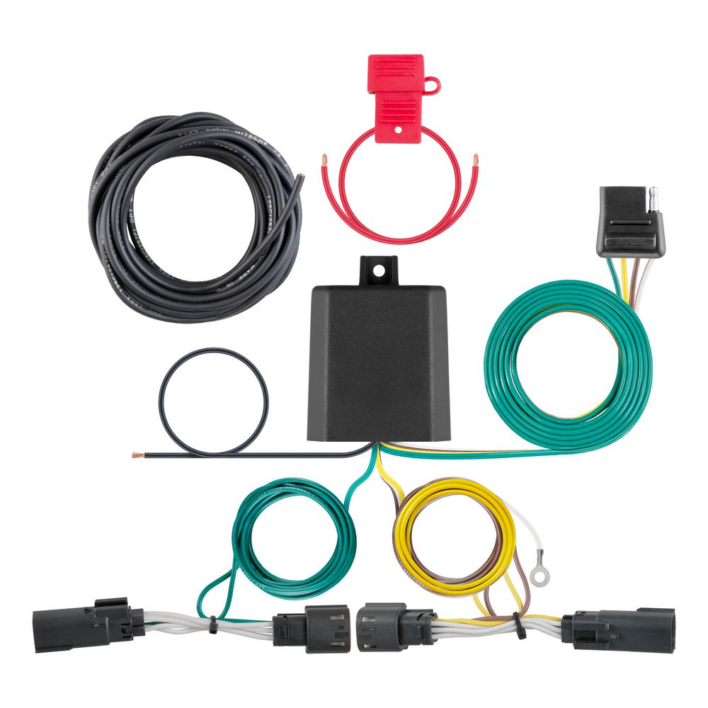 CURT Custom Vehicle-Trailer Wiring Harness, 4-Way Flat Output, Select  Toyota Camry, Quick Electrical Wire T-Connector-56417 - The Home DepotThe Home Depot