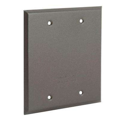 2 Gang Weatherproof Blank Cover