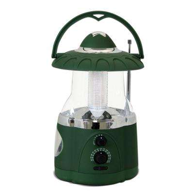 12-LED Green Battery Operated Multifunction Radio Lantern (2-Pack)