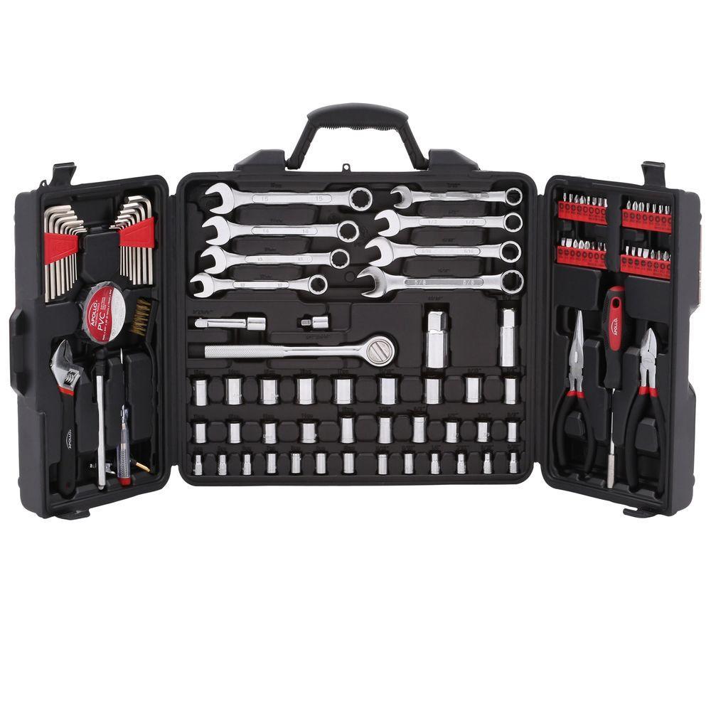 apollo mechanics tool kit 101 piece dt0006 the home depot. Black Bedroom Furniture Sets. Home Design Ideas