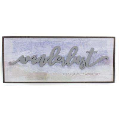 "20.5 In. W x 8.5 In. H ""Wanderlust"" by KLB Framed Printed Wall Art"