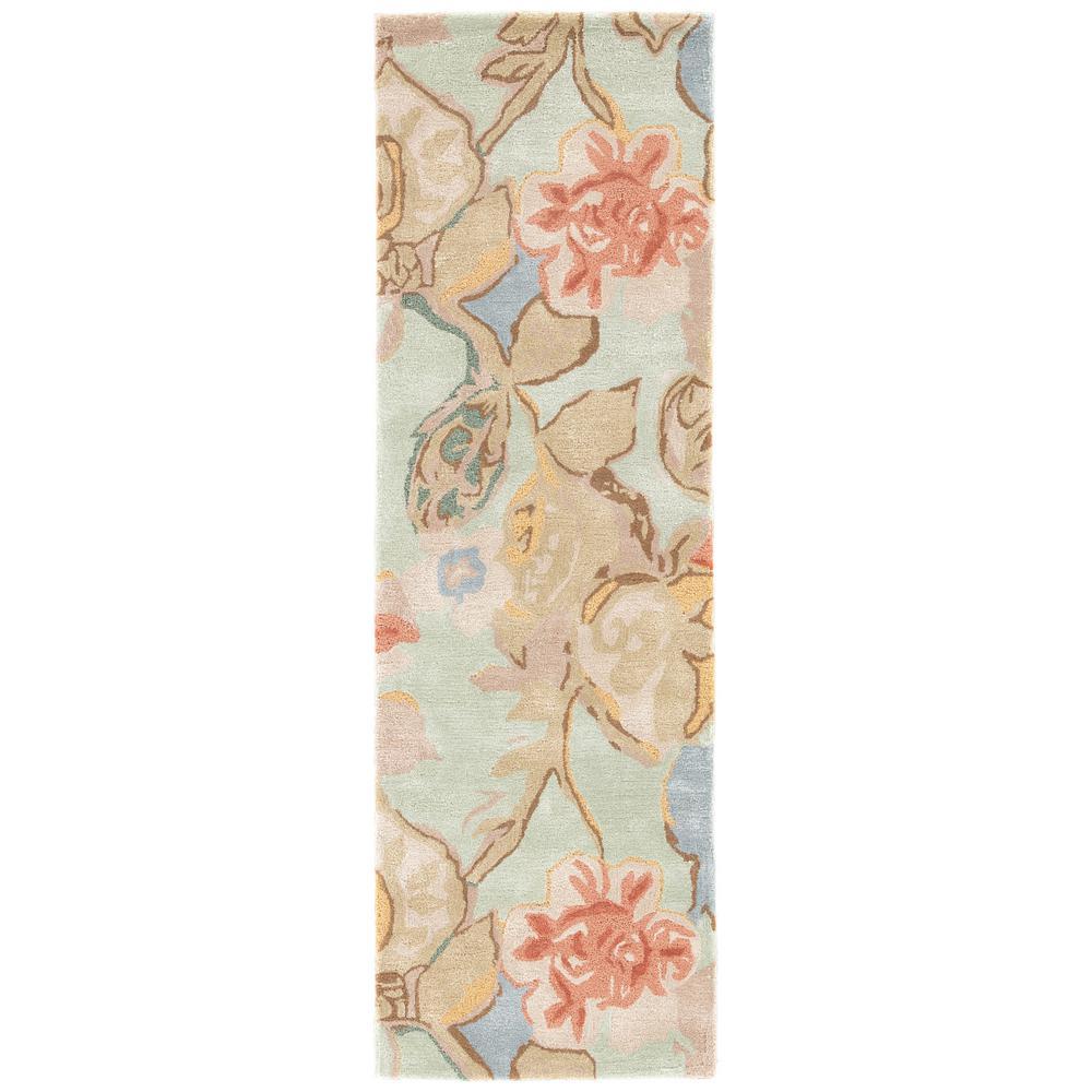 Celadon 3 ft. x 8 ft. Floral Runner Rug