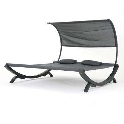 Fabulous 7 5 Ft Free Standing Sunbed Hammock Bed With Canopy In Gray Ocoug Best Dining Table And Chair Ideas Images Ocougorg