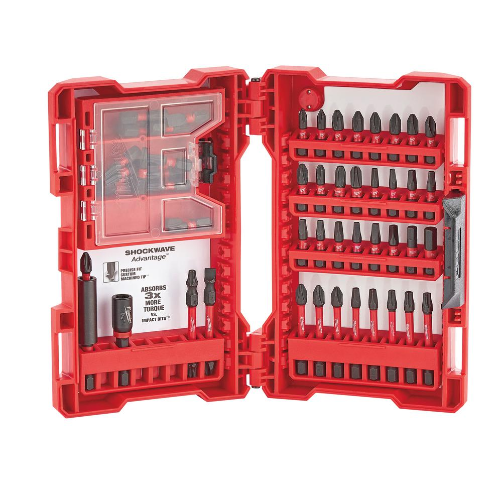 Milwaukee Shockwave Impact Duty Driver Bit Set 56 Piece
