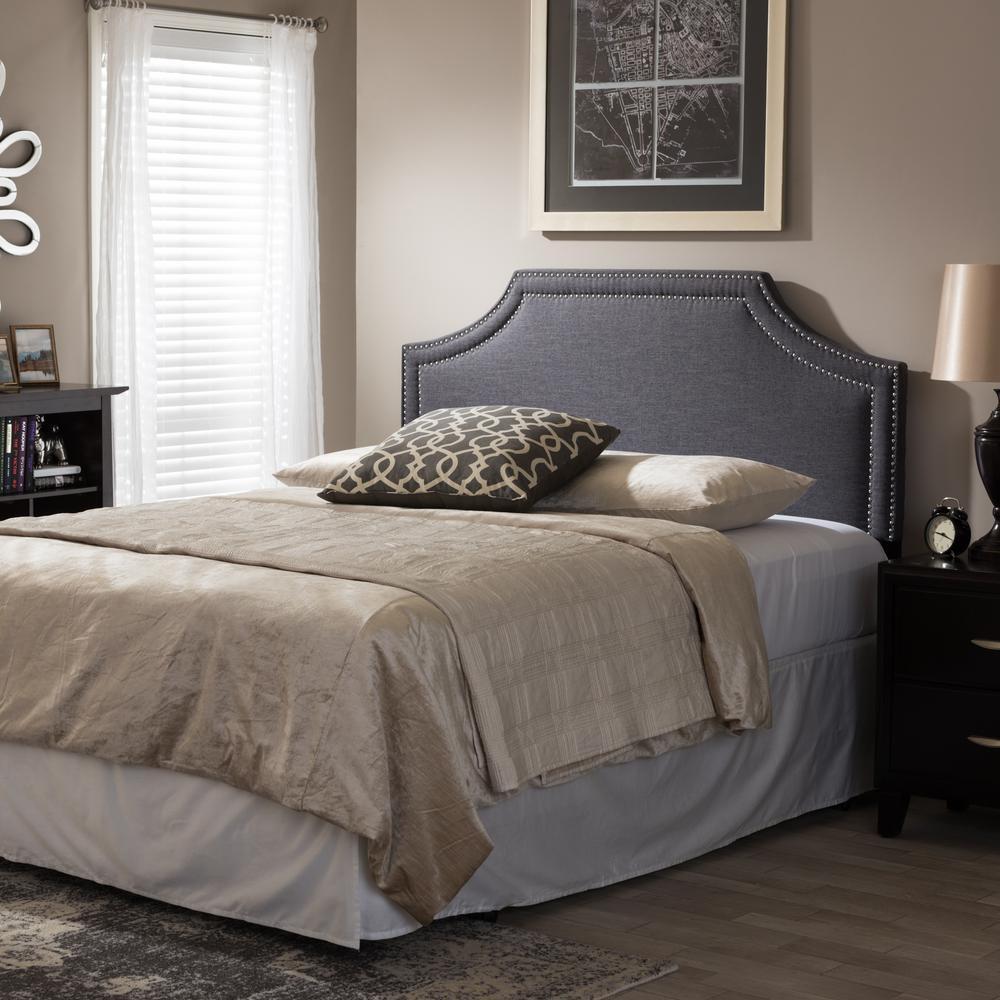 baxton studio avignon gray queen headboard 28862 6868 hd. Black Bedroom Furniture Sets. Home Design Ideas