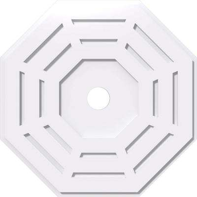 26 in. OD x 3 in. ID x 1 in. P Westin Architectural Grade PVC Contemporary Ceiling Medallion