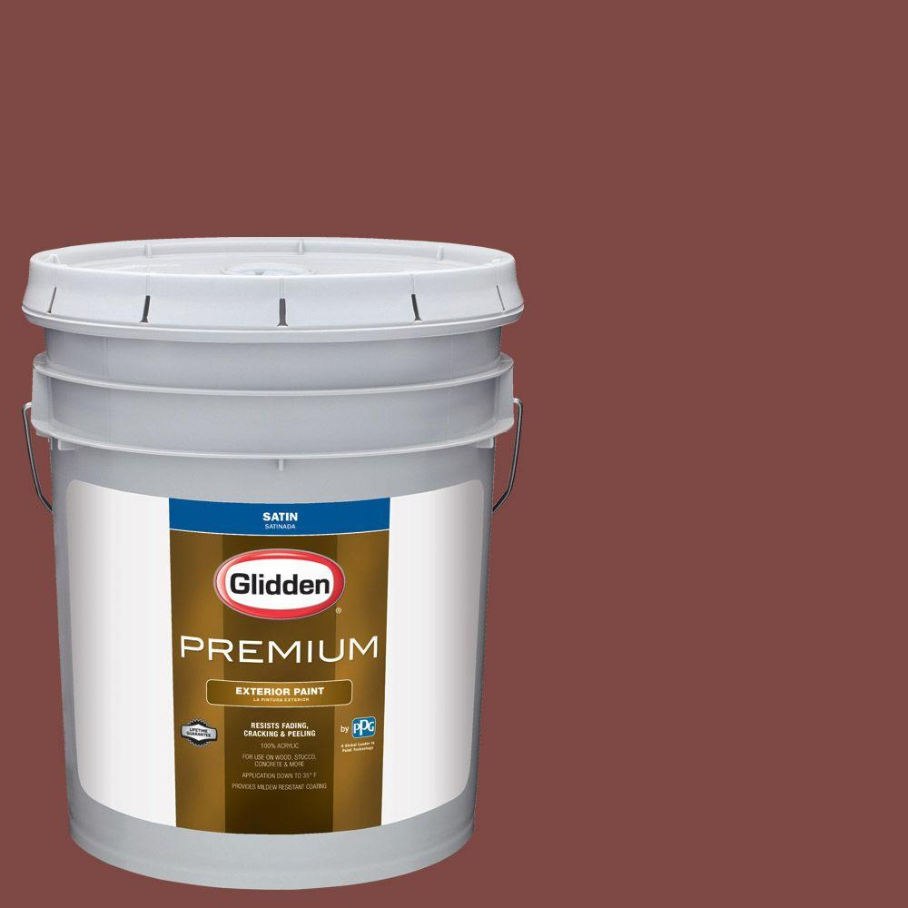 Hdgr65u Colonial Red Satin Latex Exterior Paint