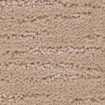 Carpet Sample - Enchantment - Color New Fawn Pattern 8 in. x 8 in.