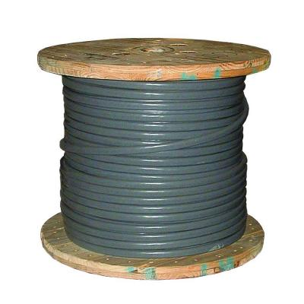 500 ft. 2/0-2/0-2/0 Gray Stranded AL SEU Cable