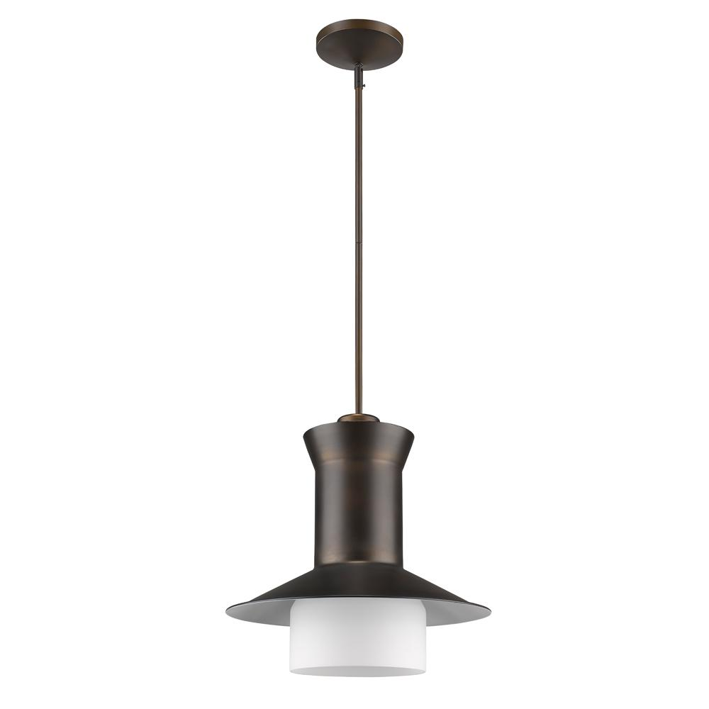 Acclaim Lighting Greta Indoor 1-Light Pendant with Glass Shade in Oil Rubbed Bronze
