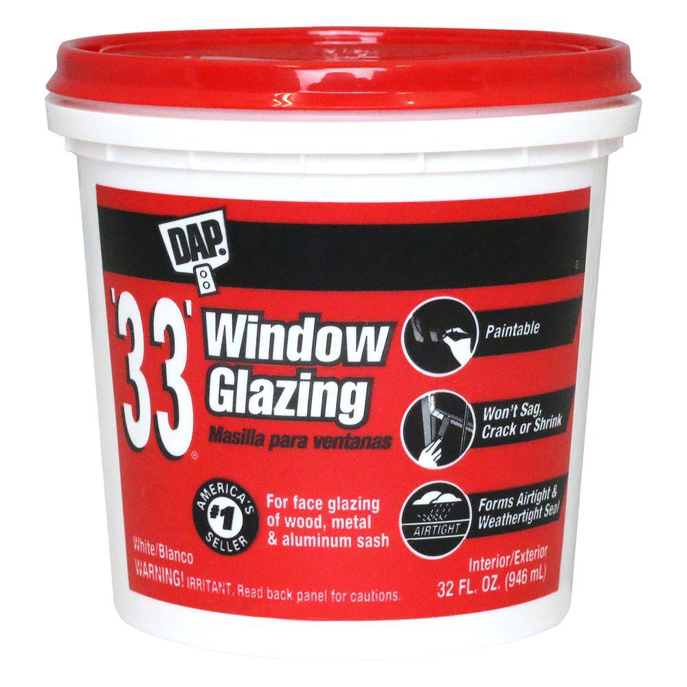 33 32 oz. White Ready-to-use Window Glazing (6-Pack)