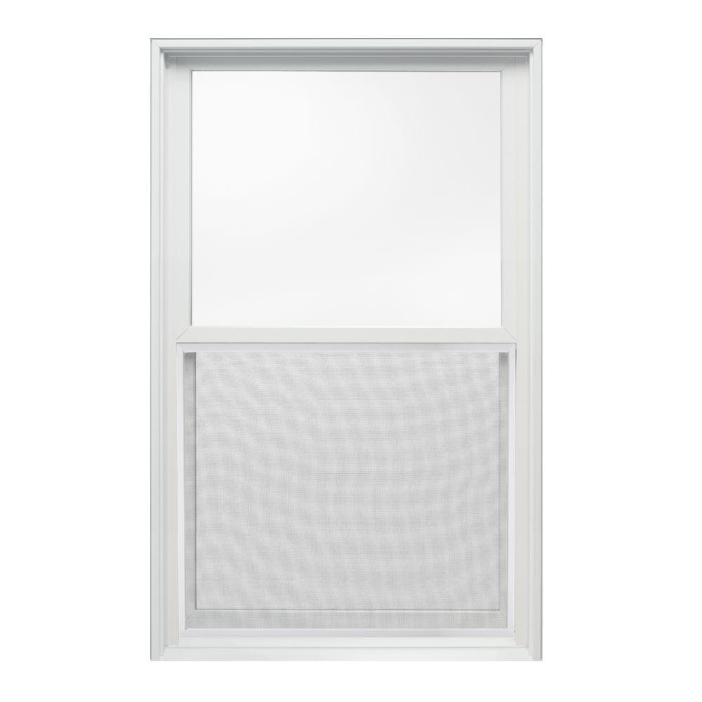 JELD-WEN 25.375 in. x 40 in. W-2500 Series Double Hung Wood Window - White
