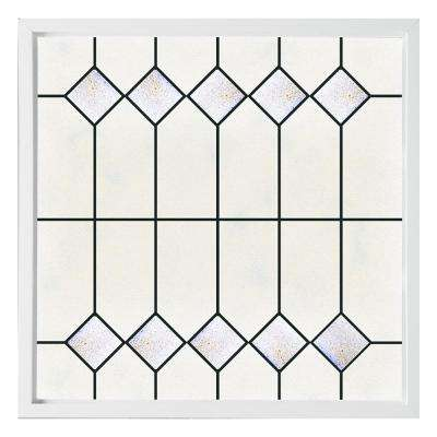 47.5 in. x 47.5 in. Mission Decorative Glass Picture Vinyl Window - White